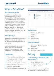SuiteFiles spec sheet
